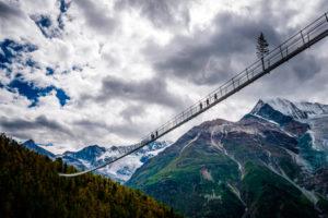 Pont de Randa, Zermatt, Suisse